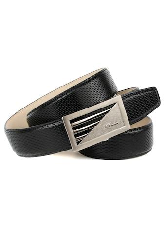 Anthoni Crown Ledergürtel, mit matt/glänzender Schließe kaufen