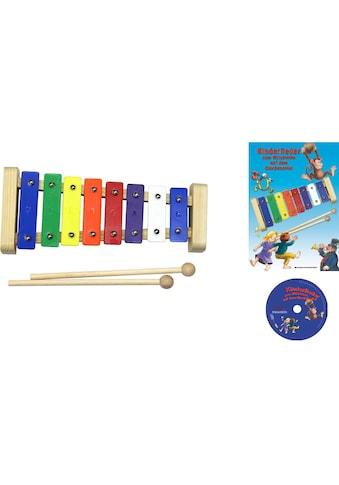Clifton Spielzeug-Musikinstrument »Metallophon«, mit 8 Tönen und Kinderlieder CD,... kaufen
