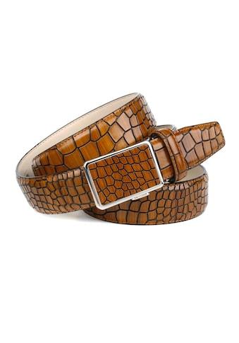 Anthoni Crown Ledergürtel, mit Reptilienmuster in Cognac kaufen