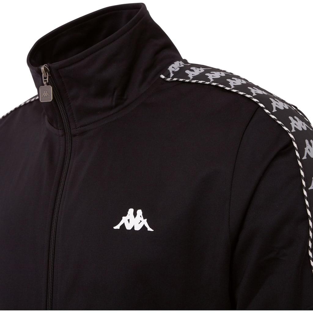 Kappa Trainingsjacke »IMANUEL«, mit hochwertigem Jacquard Logowebband an den Ärmeln