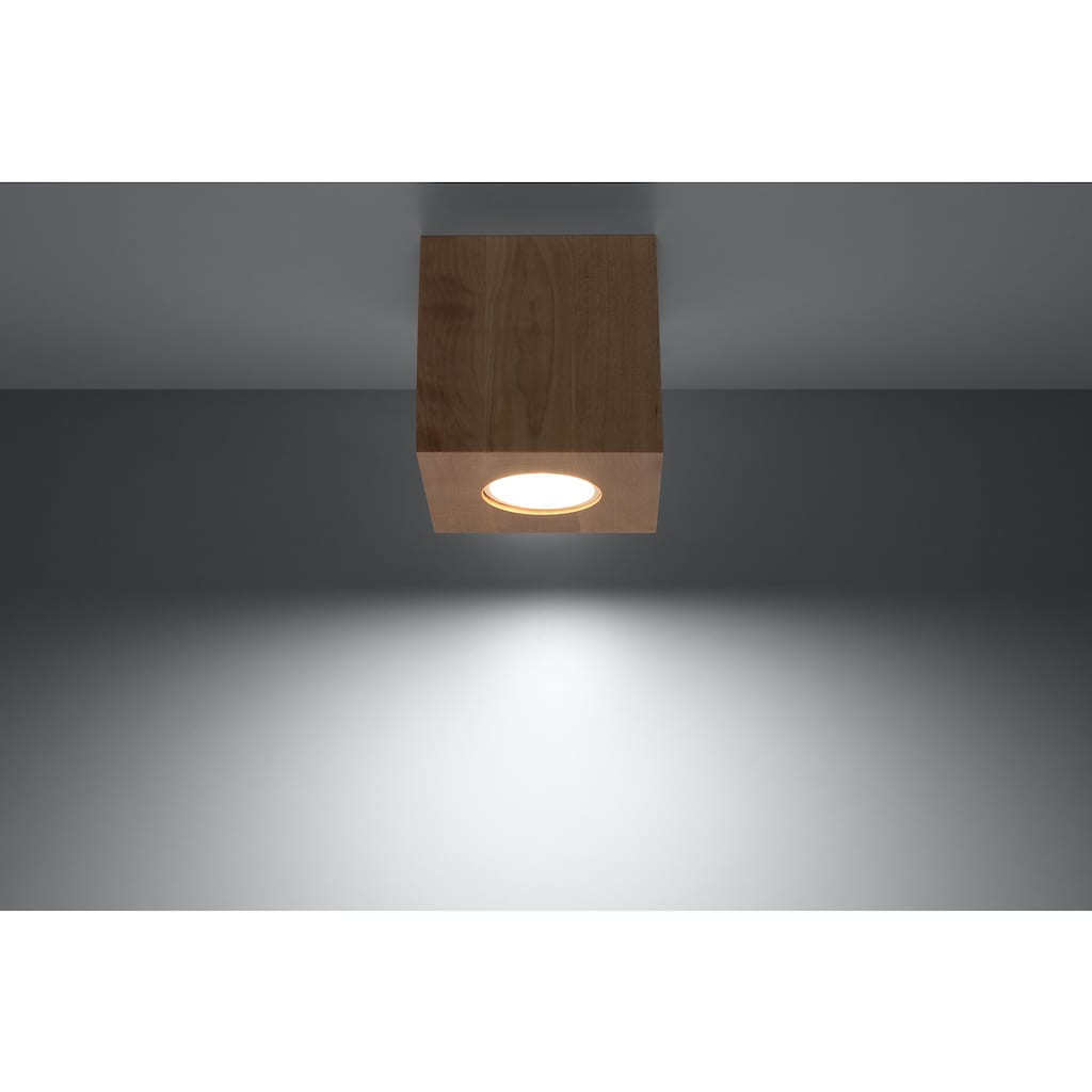 SOLLUX lighting Deckenleuchte »QUAD«, GU10, 1 St., Deckenlampe