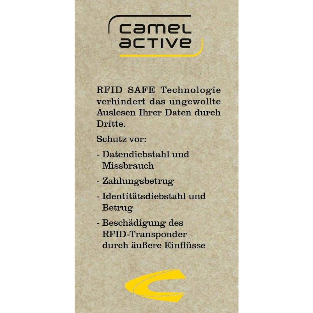 camel active Geldbörse »ATLANDA«, aus Leder mit RFID, im Querformat