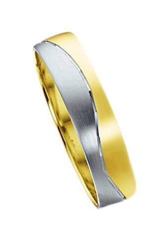 Firetti Trauring mit Gravur »glanz, matt, Diamantschnitt in Wellenform, bicolor, 5,0... kaufen