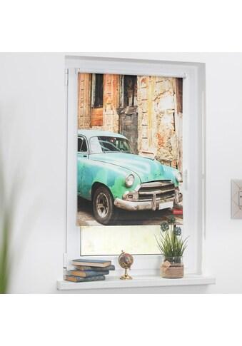 LICHTBLICK ORIGINAL Seitenzugrollo »Rollo Klemmfix, ohne Bohren, Verdunkelung, Kuba -... kaufen