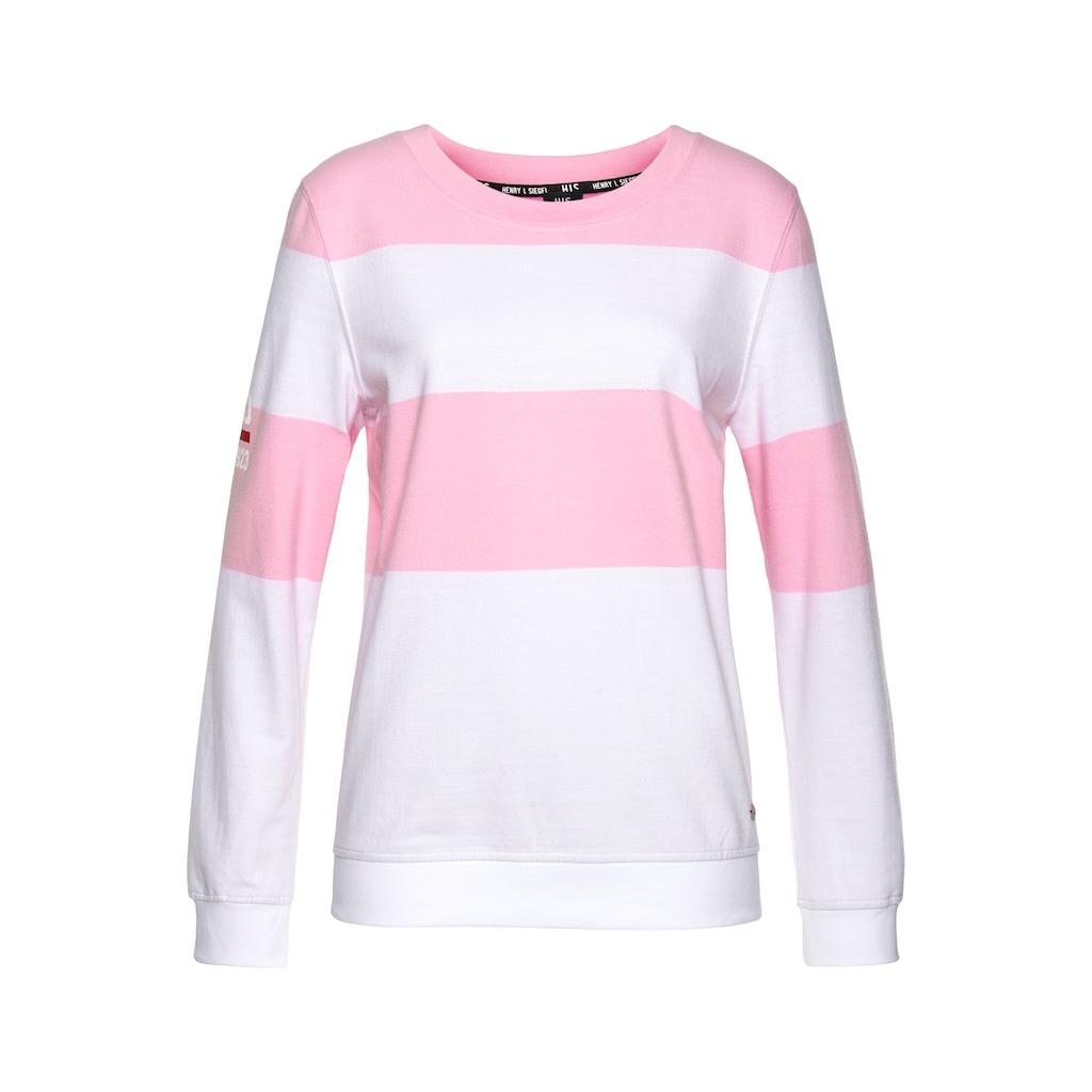 H.I.S Sweatshirt, Colorblocking von H.I.S