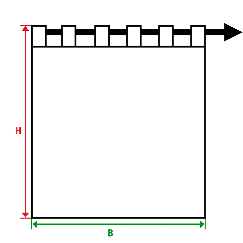 TOM TAILOR Vorhang »Fine Check«, HxB: 255x135