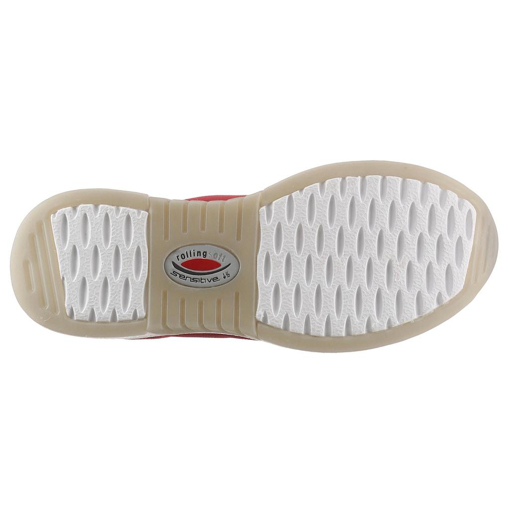 Gabor Rollingsoft Keilsneaker, im sommerlichem Materialmix