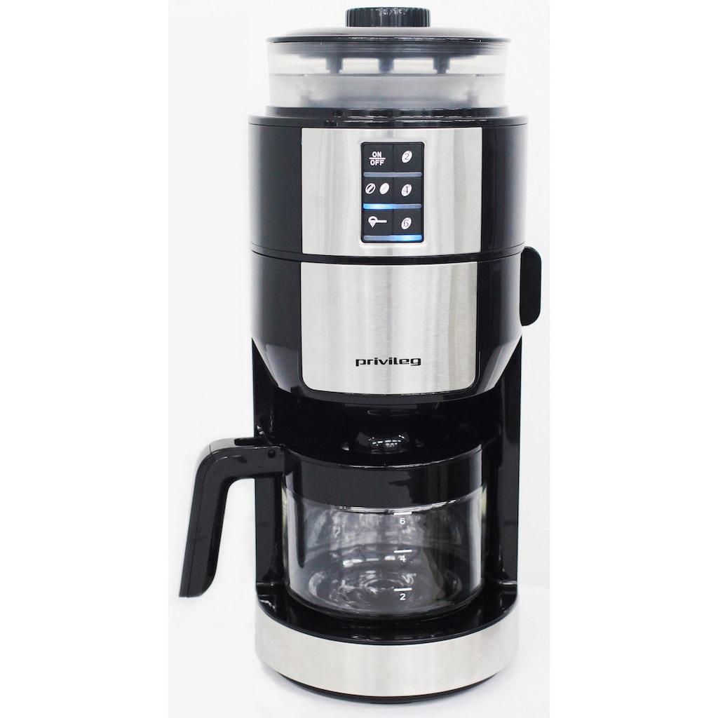 Privileg Kaffeemaschine mit Mahlwerk »für 6 Tassen«, Papierfilter