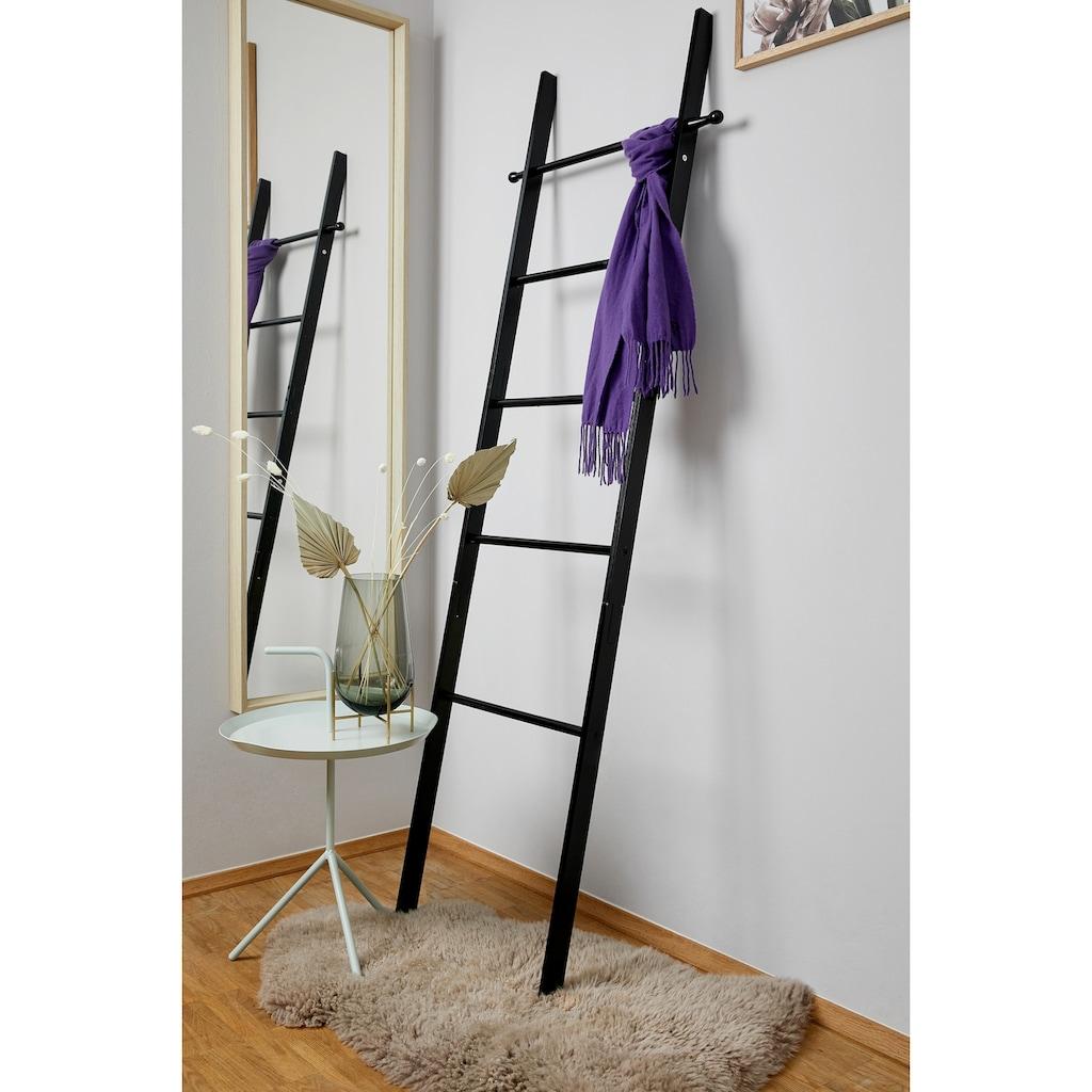 WENKO Handtuchleiter »Loft«, Bambus, schwarz lackiert