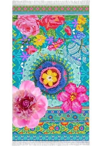 Happiness Strandtuch »Adventures«, (1 St.), mit farbenfrohen Blumen kaufen
