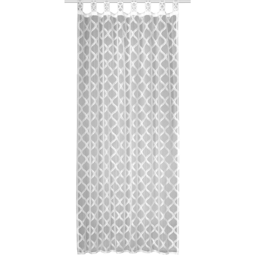 WILLKOMMEN ZUHAUSE by ALBANI GROUP Vorhang »Bühl«, HxB: 245x140, Schlaufenschal mit Kräuselband