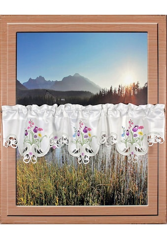 HOSSNER - ART OF HOME DECO Querbehang »Blumensee«, m. Cut-Outs kaufen