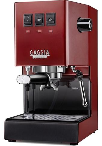 Gaggia Siebträgermaschine New Classic Edition Rot kaufen