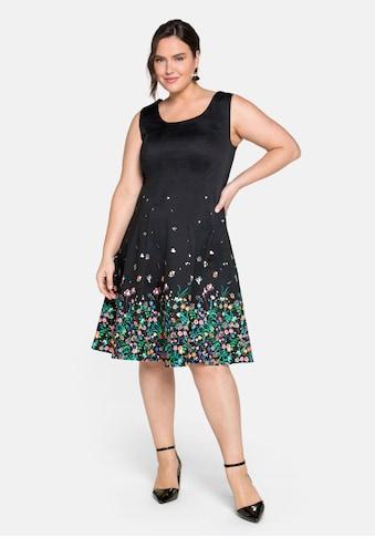 Sheego Cocktailkleid, mit floralem Alloverprint kaufen