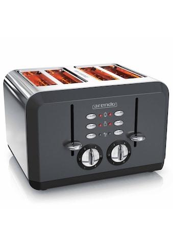 Arendo Toaster im Edelstahlgehäuse für 4 Scheiben »BREAKFAST X2 grau« kaufen