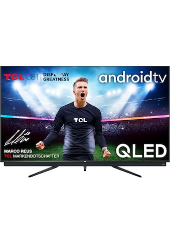 "TCL QLED-Fernseher »65C815«, 164 cm/65 "", 4K Ultra HD, Android TV, integrierter ONKYO Soundbar-Android TV Sprachfernbedienung kaufen"