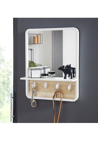 andas Wandspiegel »Drammen«, mit Ablage und 4 Metallhaken kaufen