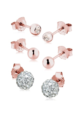 Elli Ohrring-Set »3er Set Kristalle rosé vergoldet« kaufen