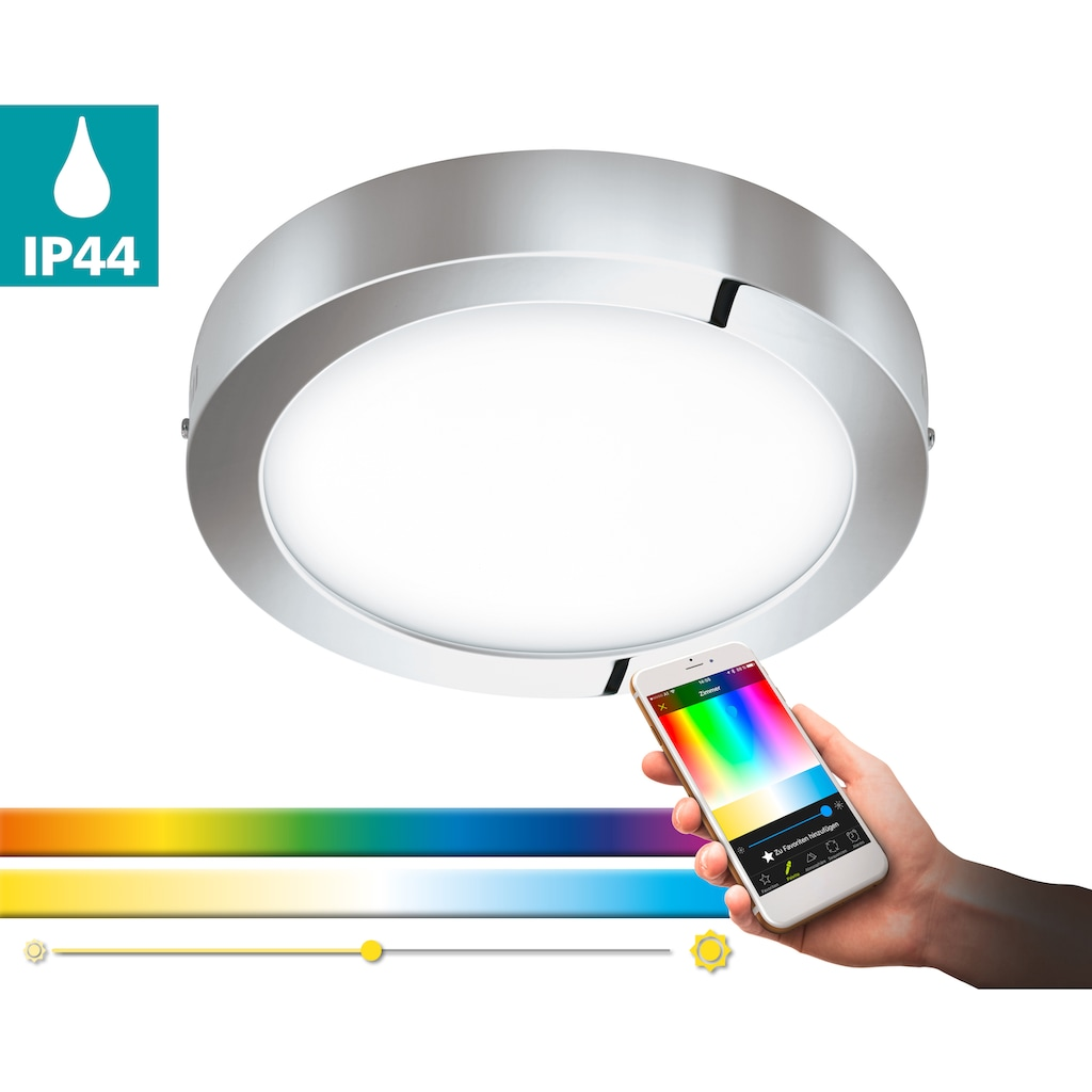 EGLO Aufbauleuchte »FUEVA-C«, LED-Board, Warmweiß-Tageslichtweiß-Neutralweiß-Kaltweiß, EGLO CONNECT, Steuerung über APP + Fernbedienung,BLE, CCT, RGB
