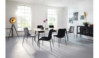 INOSIGN Esszimmerstuhl »Dounja«, 2er Set, mit weichem, pflegeleichtem Samtvelours Bezug, Sitzhöhe 45 cm kaufen