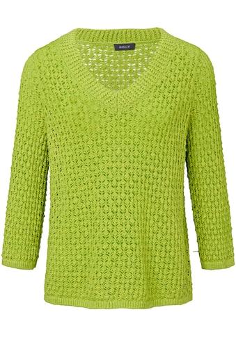 Basler Pullover mit Ajour - Strick und ¾ - Ärmeln kaufen