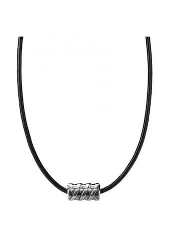 CAÏ Collier »925/- Sterling Silber rhodiniert Lederand«, Collier kaufen