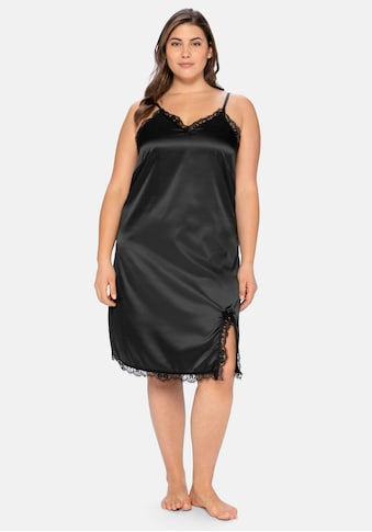 Sheego Nachthemd, mit Spitze und verstellbaren Trägern kaufen