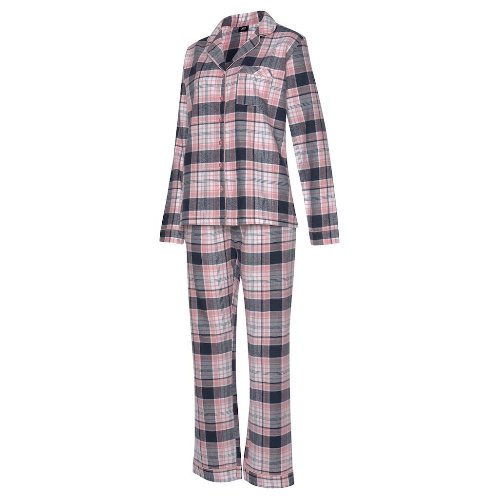 H.I.S Pyjama, mit aus Flanell Allover-Karomuster