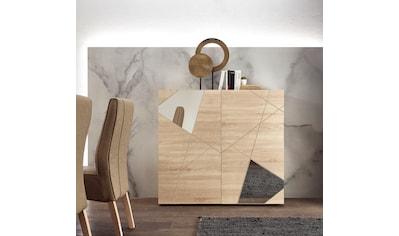 LC Highboard »Vittoria Highboard«, Breite 121 cm, Front mit Siebdruck und Spiegel kaufen