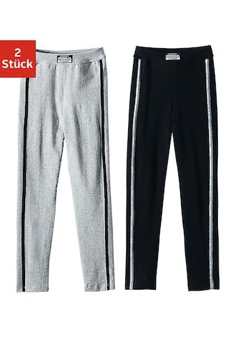 AUTHENTIC UNDERWEAR Leggings, (2er-Pack), ideal für kalte Tage, mit sportlichen... kaufen
