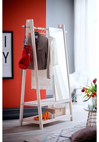Home affaire Garderobenständer »Ward«, aus schönem weiß lackierten Fichtenholz, Höhe... kaufen