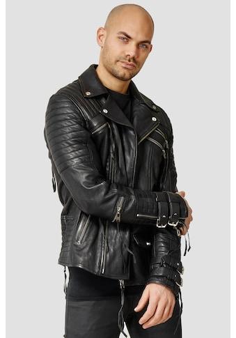 trueprodigy Bikerjacke »Jackson«, mit Absteppungen und Zippern kaufen