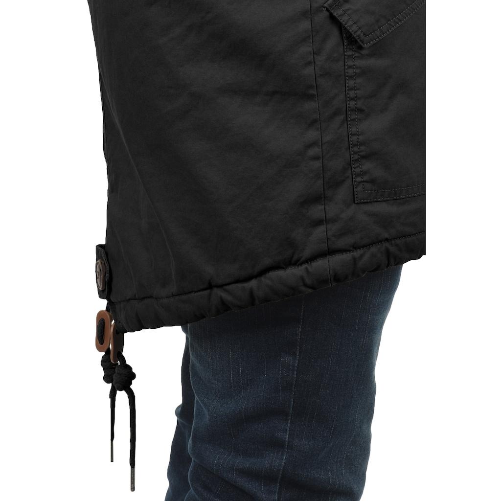 Solid Winterjacke »Clarki Teddy«, warme Jacke mit abnehmbarem Kunstfellkragen