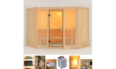 KARIBU Sauna »Flora 2«, 231x231x198 cm, 9 kW Ofen mit int. Steuerung kaufen