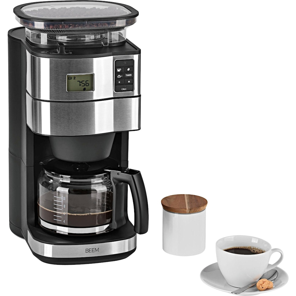 BEEM Kaffeemaschine mit Mahlwerk »Fresh-Aroma-Perfect II - Glas«, Permanentfilter, 1x4