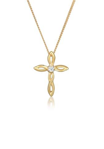 Diamore Collierkettchen »Kreuz Religion Diamant (0.03 ct.) 585er Gelbgold« kaufen