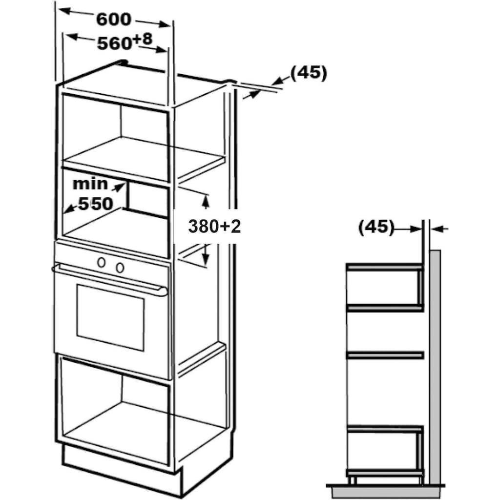 Hanseatic Einbau-Mikrowelle »TC925B2F«, Mikrowelle-Grill und Heißluft, 900 W