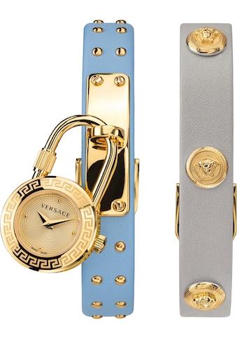 Versace Schweizer Uhr »Medusa Lock Icon, VEDW00419«, (Set, 3 tlg., mit zusätzlichem Lederband) kaufen