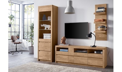Wohnwand »Silkeborg«, (Set, 3 tlg.), teilmassives Holz kaufen