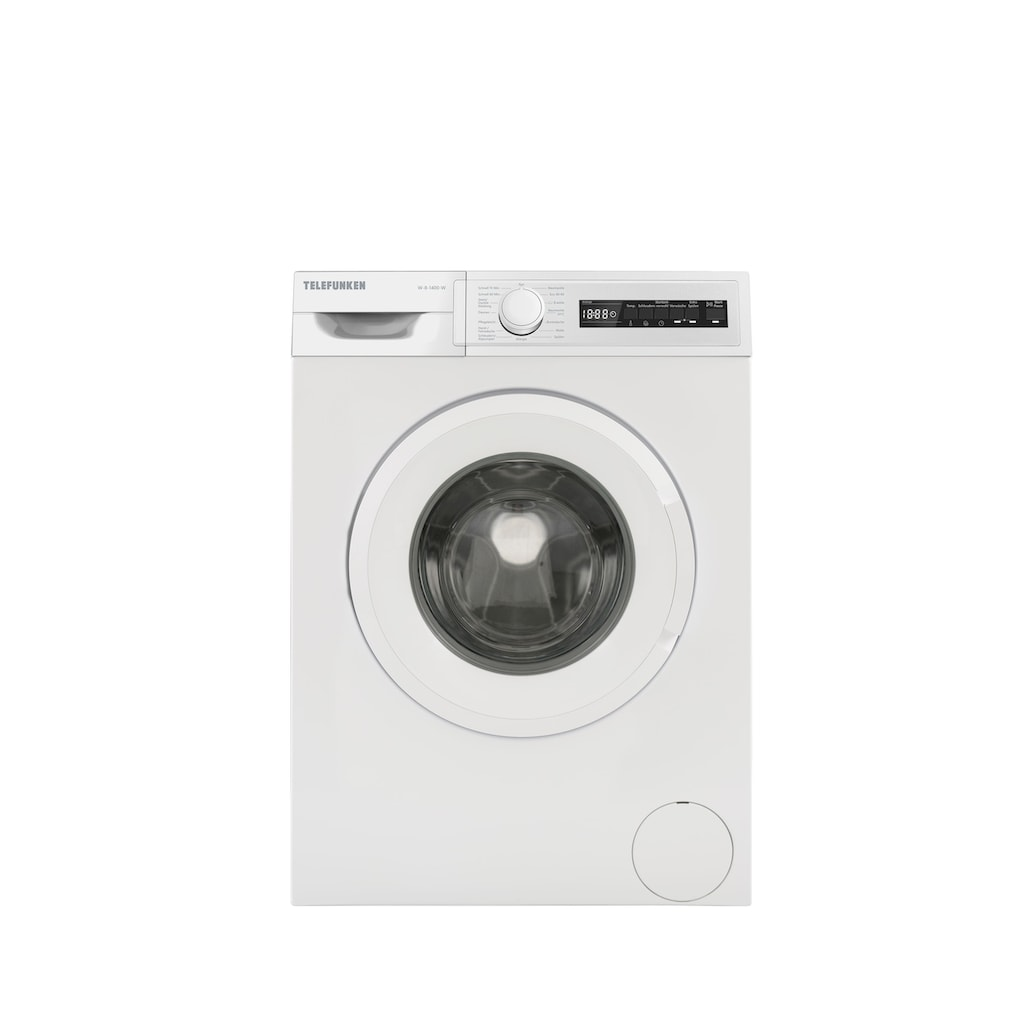Telefunken Waschmaschine »W-7-1400-W«, W-7-1400-W, 7 kg, 1400 U/min, (7 kg / weiss)