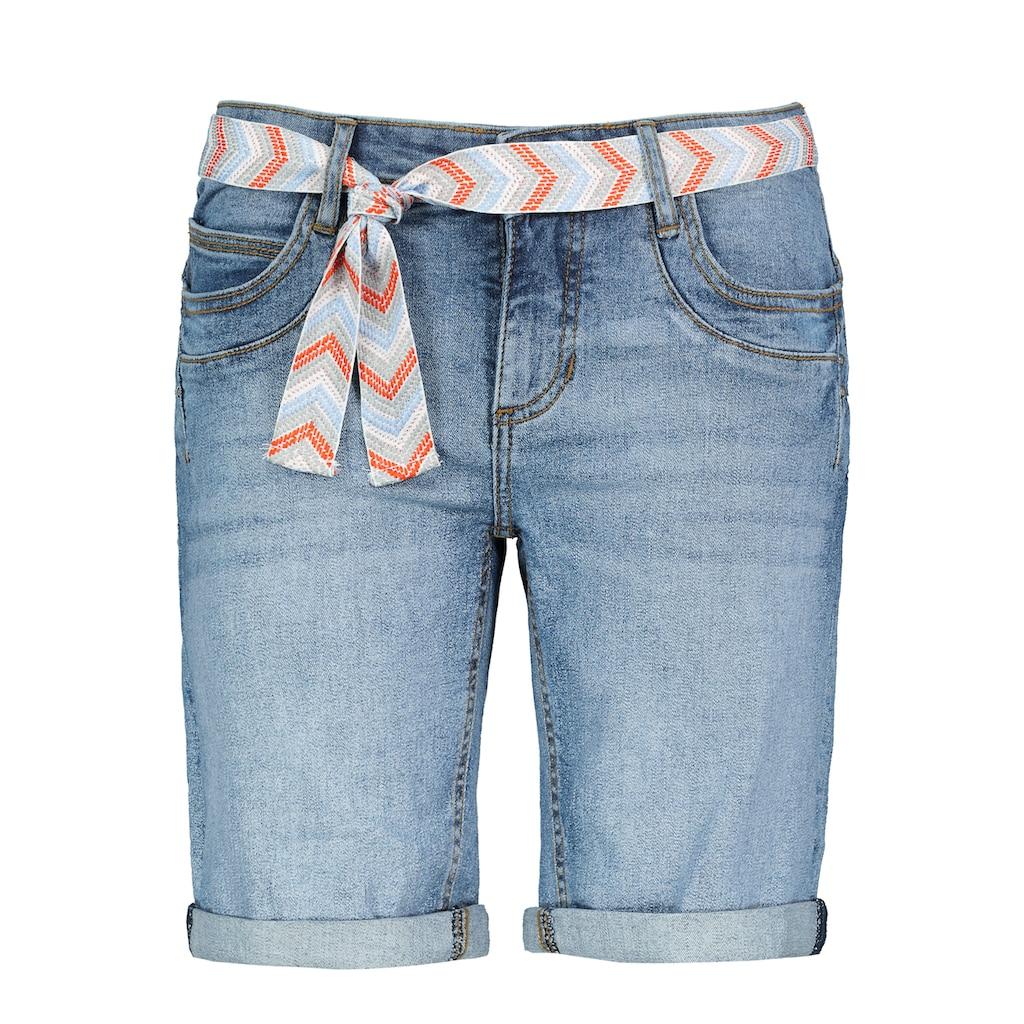 SUBLEVEL Jeansbermudas, mit Gürtel