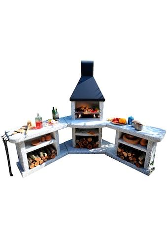 WELLFIRE Gartenkamin »Außenküche Toskana Quatro« kaufen