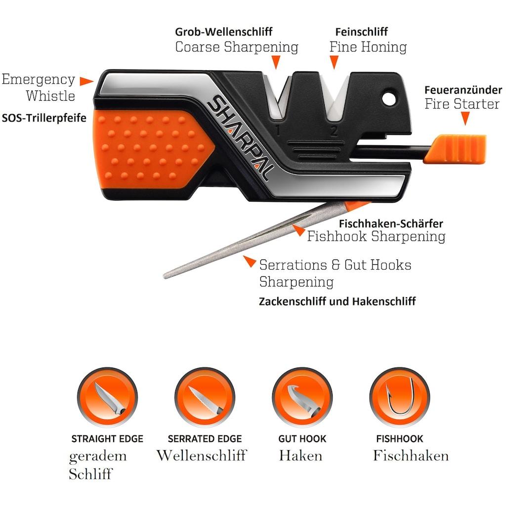 SHARPAL Messerschärfer »Survival Tool 6-IN-1«, 6in1