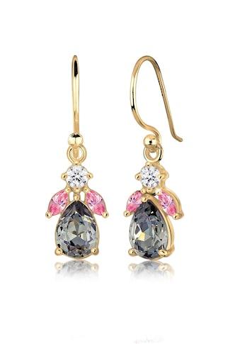 Elli Paar Ohrhänger »Blume Kristalle 925 Silber vergoldet« kaufen