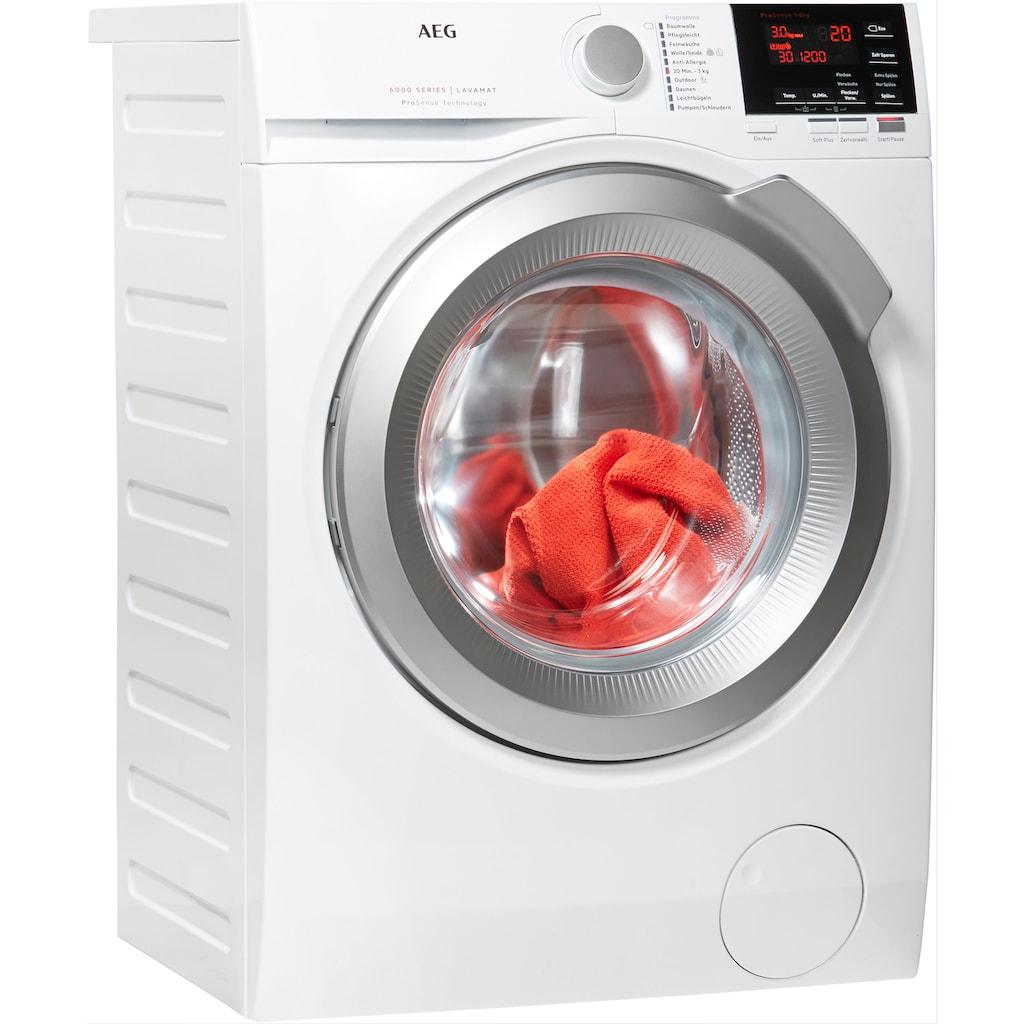 AEG Waschmaschine »L6FBA48«, 6000, L6FBA48, 8 kg, 1400 U/min, ProSense - Mengenautomatik