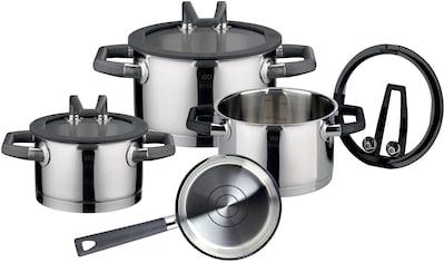Elo Premium Topf-Set »RONDELLO«, Edelstahl 18/10-Edelstahl 18/8, (Set, 7 tlg.), mit integriertem Öl-Dosiersystem, Induktion kaufen