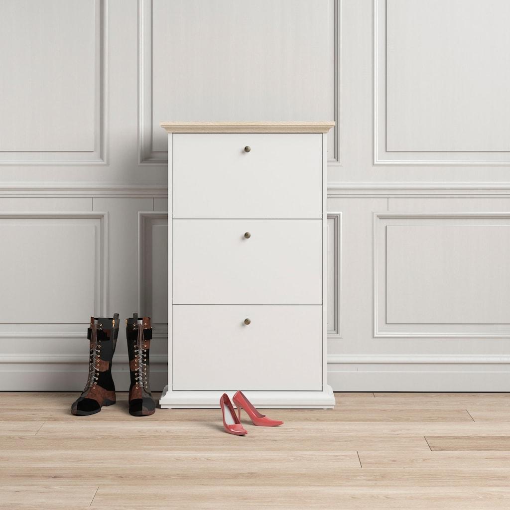 Home affaire Schuhschrank, erstrahlt in einer schönen Holzoptik, mit einem Kranzprofil oben und unten
