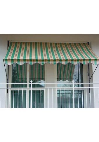 Angerer Freizeitmöbel Klemmmarkise, grün/beige/braun, Ausfall: 150 cm, versch. Breiten kaufen