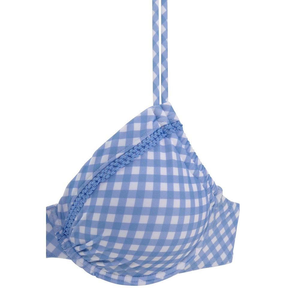 Buffalo Bügel-Bikini-Top »Karo«, mit Zierborte