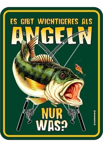 Rahmenlos Blechschild für den passionierten Angler kaufen